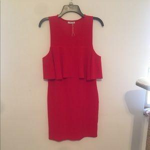 Zara short length mini dress red